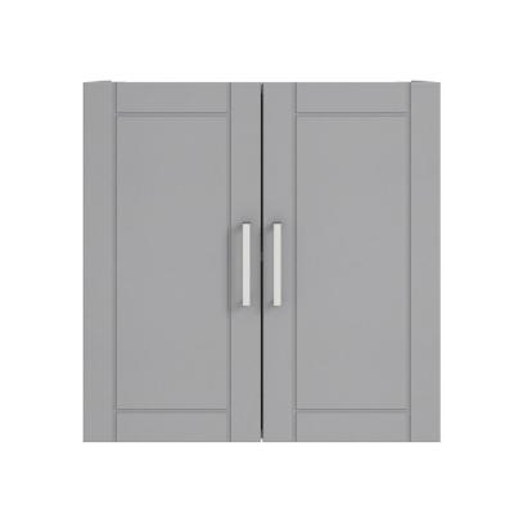 Kai 23.68 in. H x 24 in. W x 12.44 in. D Wall Cabinet in Gray