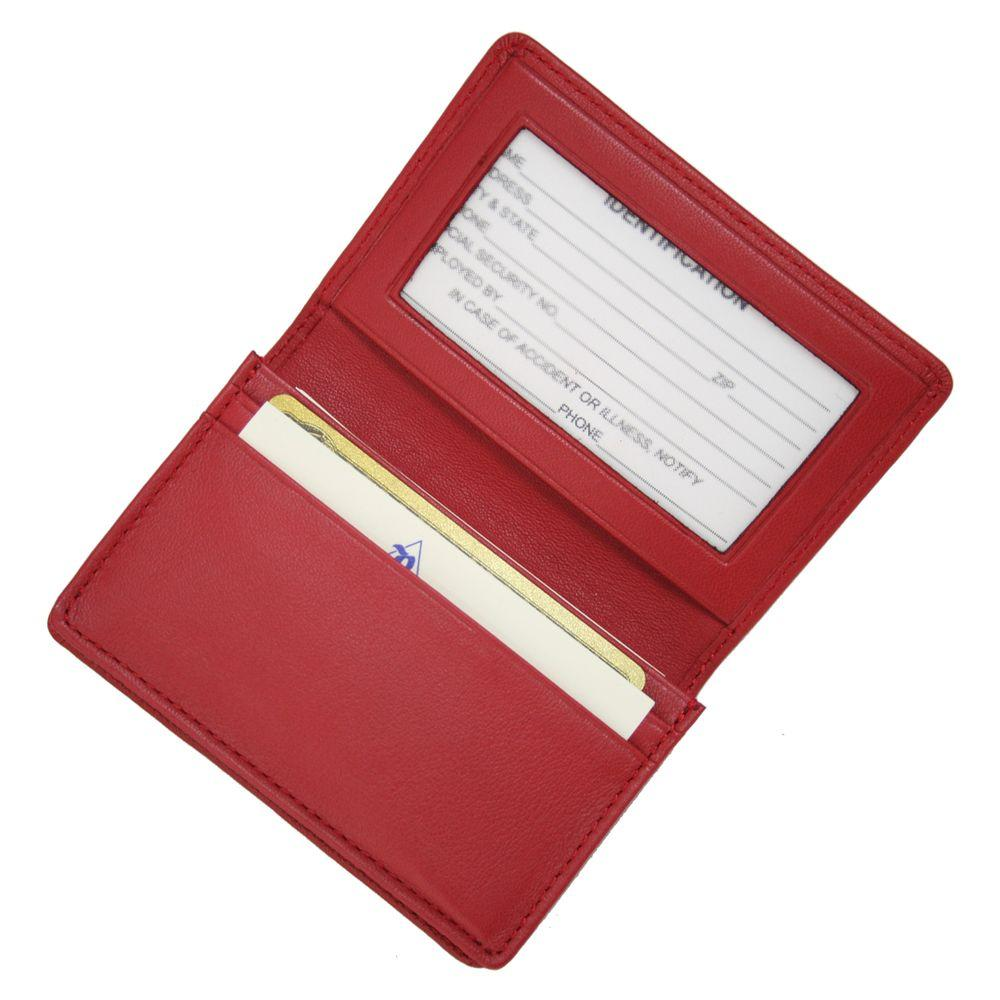 Royce Executive Business Card Case in Genuine Leather-405-RED-5 ...