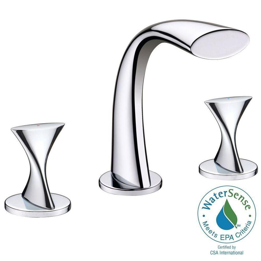Ultra Faucets Twist Collection 8 in. Widespread 2-Handle Bathroom ...