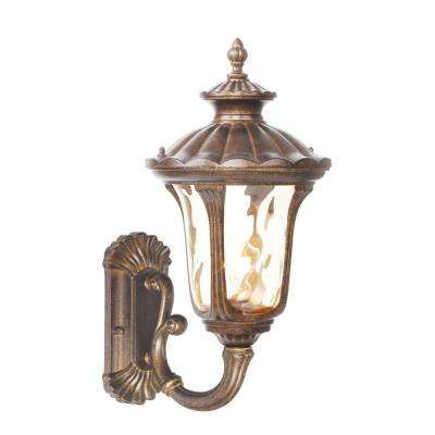 Providence Wall-Mount 1-Light Moroccan Gold Outdoor Incandescent Lantern