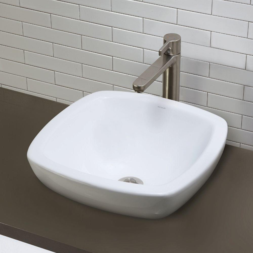 Semi Recessed Square Vessel Sink