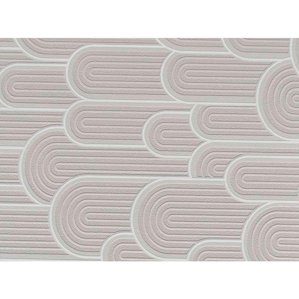 Grey Retro Geometric Hills Wallpaper