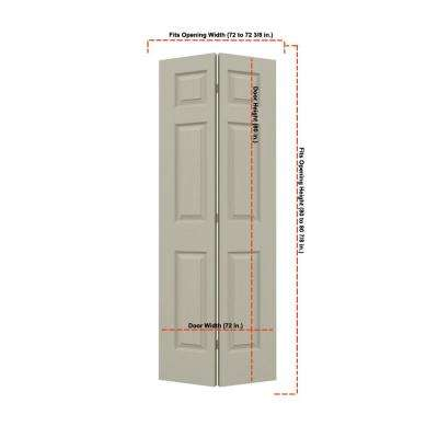 36 in. x 80 in. Colonist Desert Sand Painted Textured Molded Composite MDF Closet Bi-fold Double Door