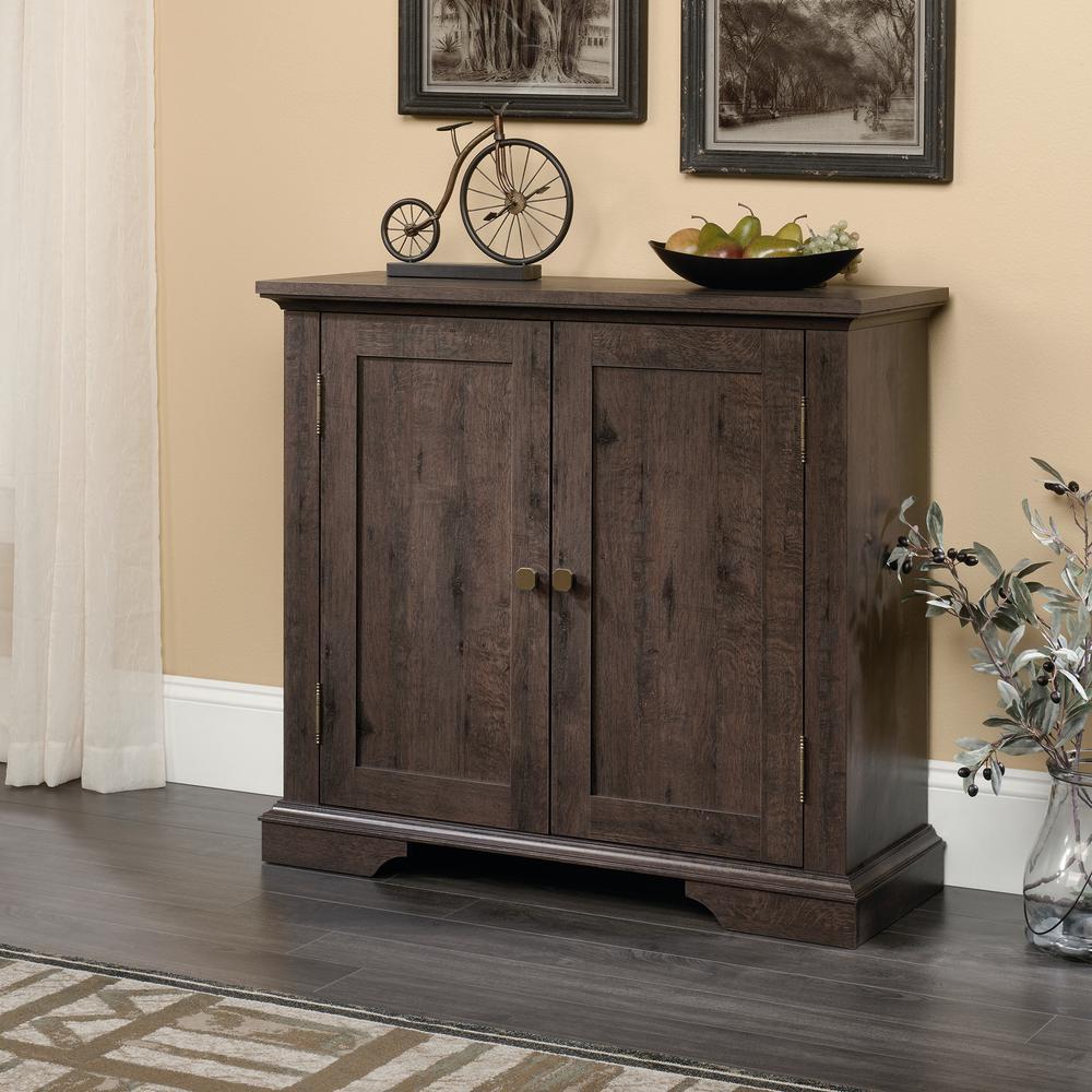 New Grange Coffee Oak Accent Storage Cabinet