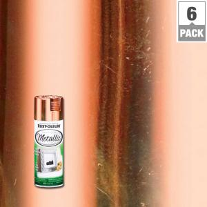 11 oz. Metallic Copper Spray Paint (6-Pack)
