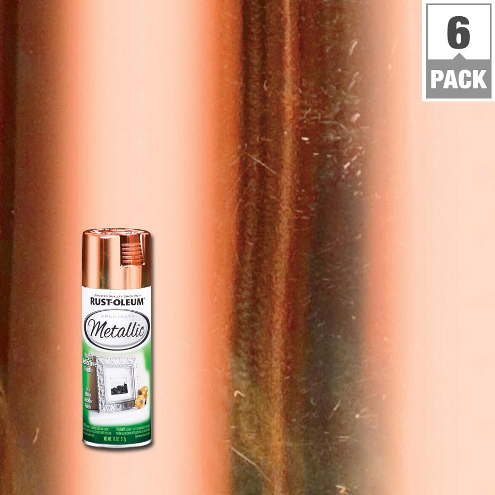 Rust-Oleum Specialty 11 oz. Metallic Copper Spray Paint (6-Pack)