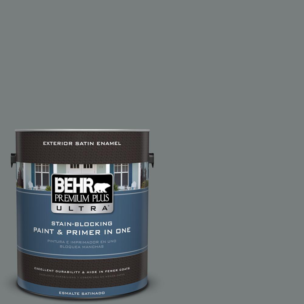 Home depot glow in the dark paint -  Ppu25 18 Shutter Gray Satin Enamel Exterior Paint 985301 The Home Depot