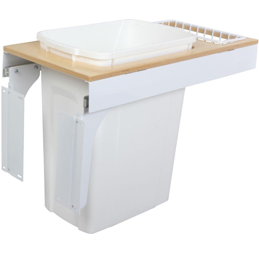 Knape & Vogt 17.5 in. x 11.5 in. x 23.19 in. In Cabinet Pull Out Soft Close Trash Can-DISCONTINUED