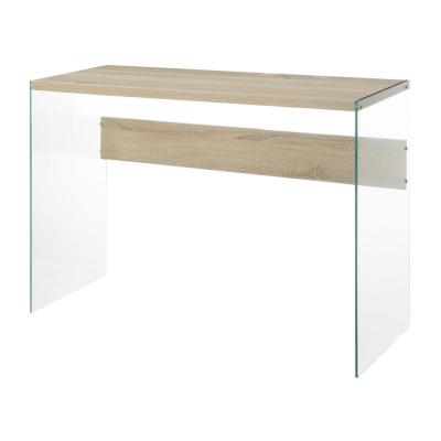 SoHo Weathered White and Glass Console Table