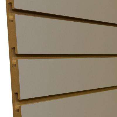 3/4 in. x 4 ft. x 8 ft. 3 in. OC Fog Grey Melamine Slatwall Wall Rack (5-Pack)