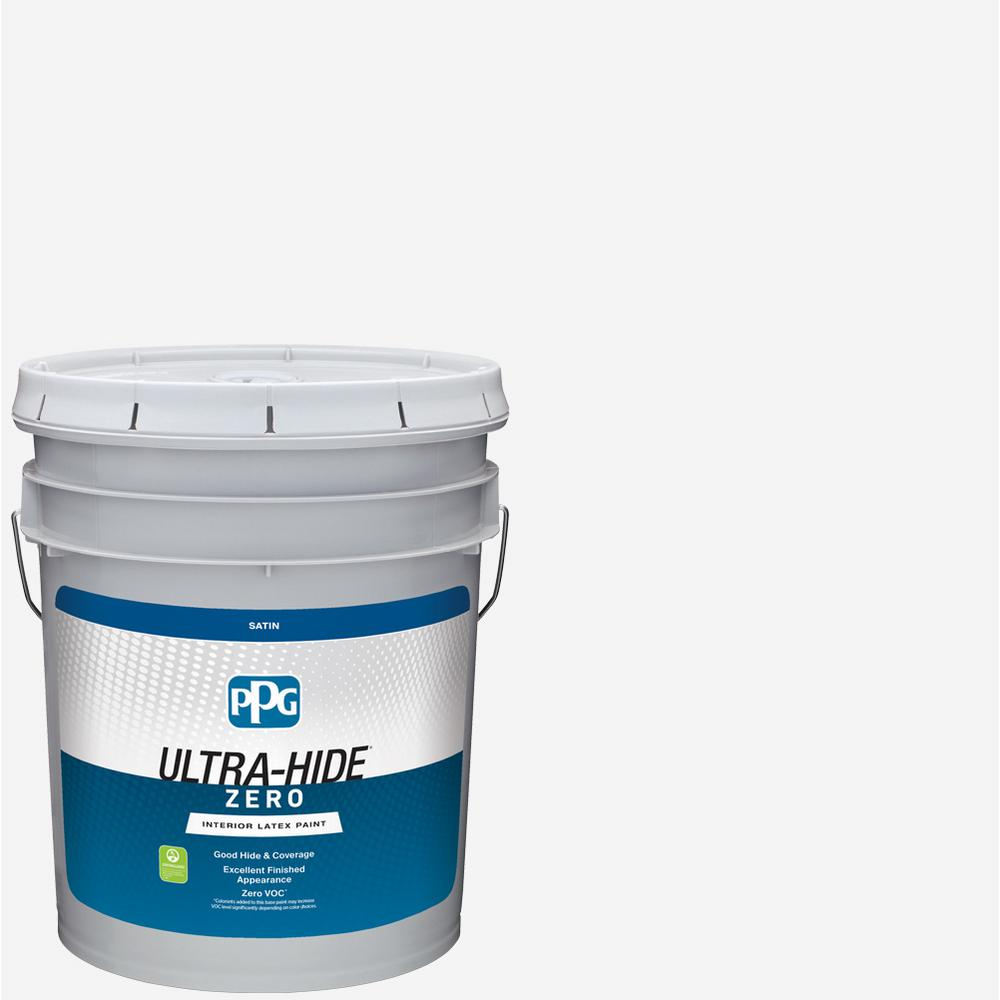 PPG Ultra-Hide Zero 5 gal  Pure White/Base 1 Satin Interior Paint