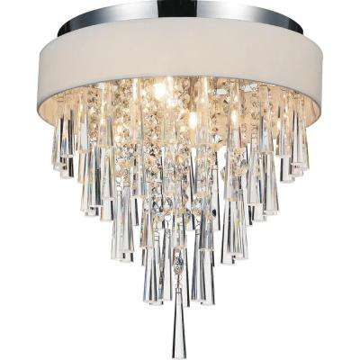 Franca 4-Light Chrome Flushmount