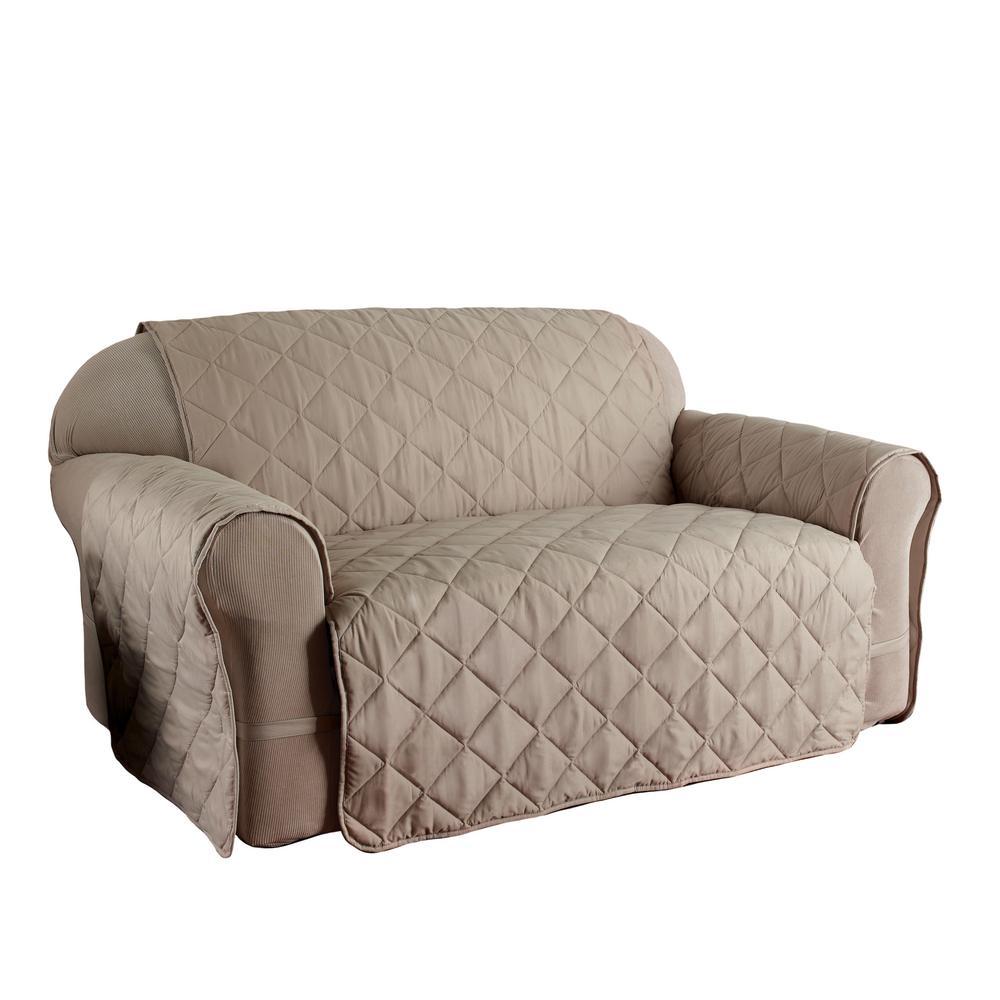 Microfiber Ultimate Solid Natural Sofa Protector