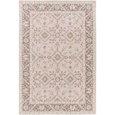 Perthios Taupe 6 ft. x 9 ft. Indoor Area Rug