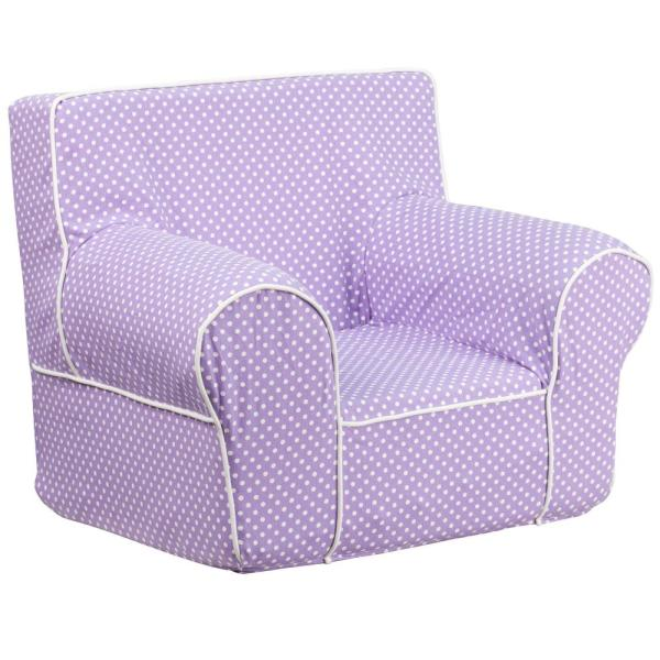 Delicieux Flash Furniture Small Lavender Dot Kids Chair With White Piping