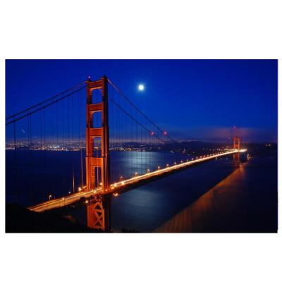 15.75 in. x 23.5 in. LED Lighted Famous San Francisco Golden Gate Bridge Canvas Wall Art