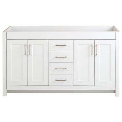 Westcourt 60 in. W x 21 in. D x 34 in. H Bath Vanity Cabinet Only in White