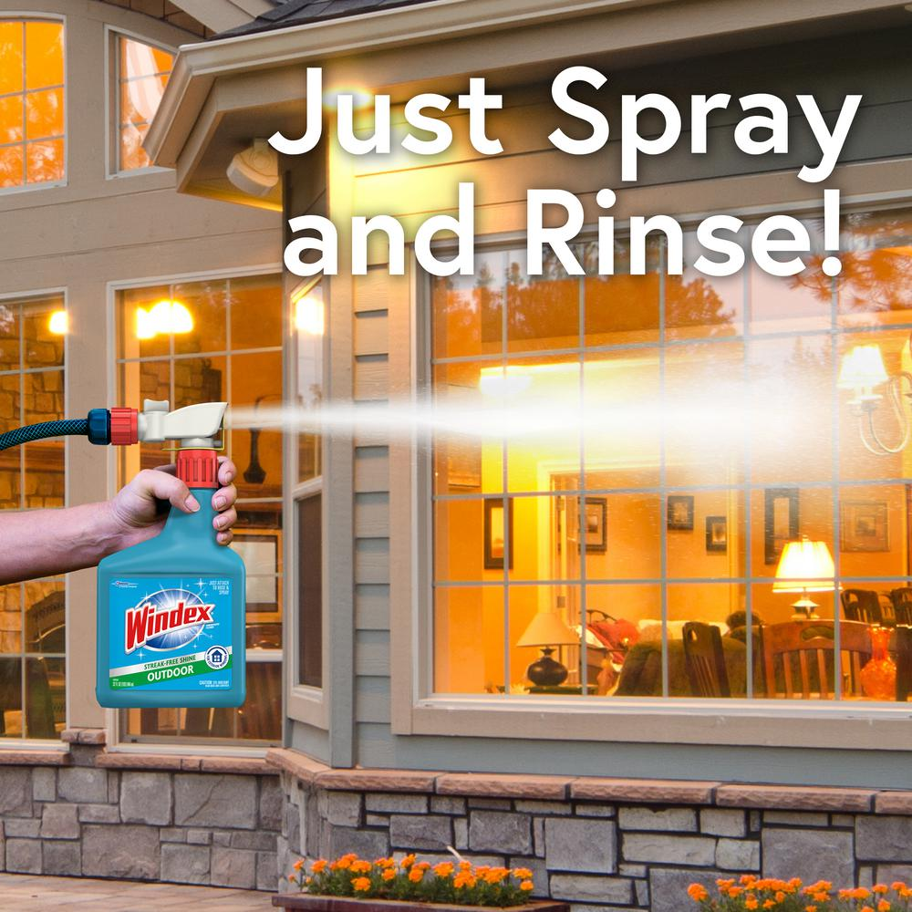 Windex 32 Fl Oz Blue Bottle Outdoor Sprayer 305759 The Home Depot