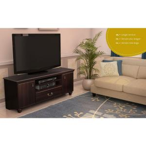 Noble 50-Disk Capacity TV Stand for TVs up to 60 in. Dark Mahogany