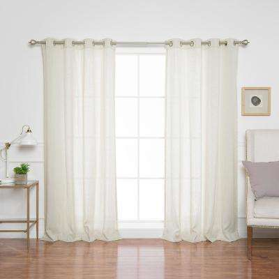 Natural Sheer Faux Linen Panels - 84 in. L x 52 in. W (2-Pack)