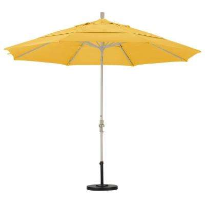 Aluminum Collar Tilt Double Vented Patio Umbrella In Yellow Pacifica