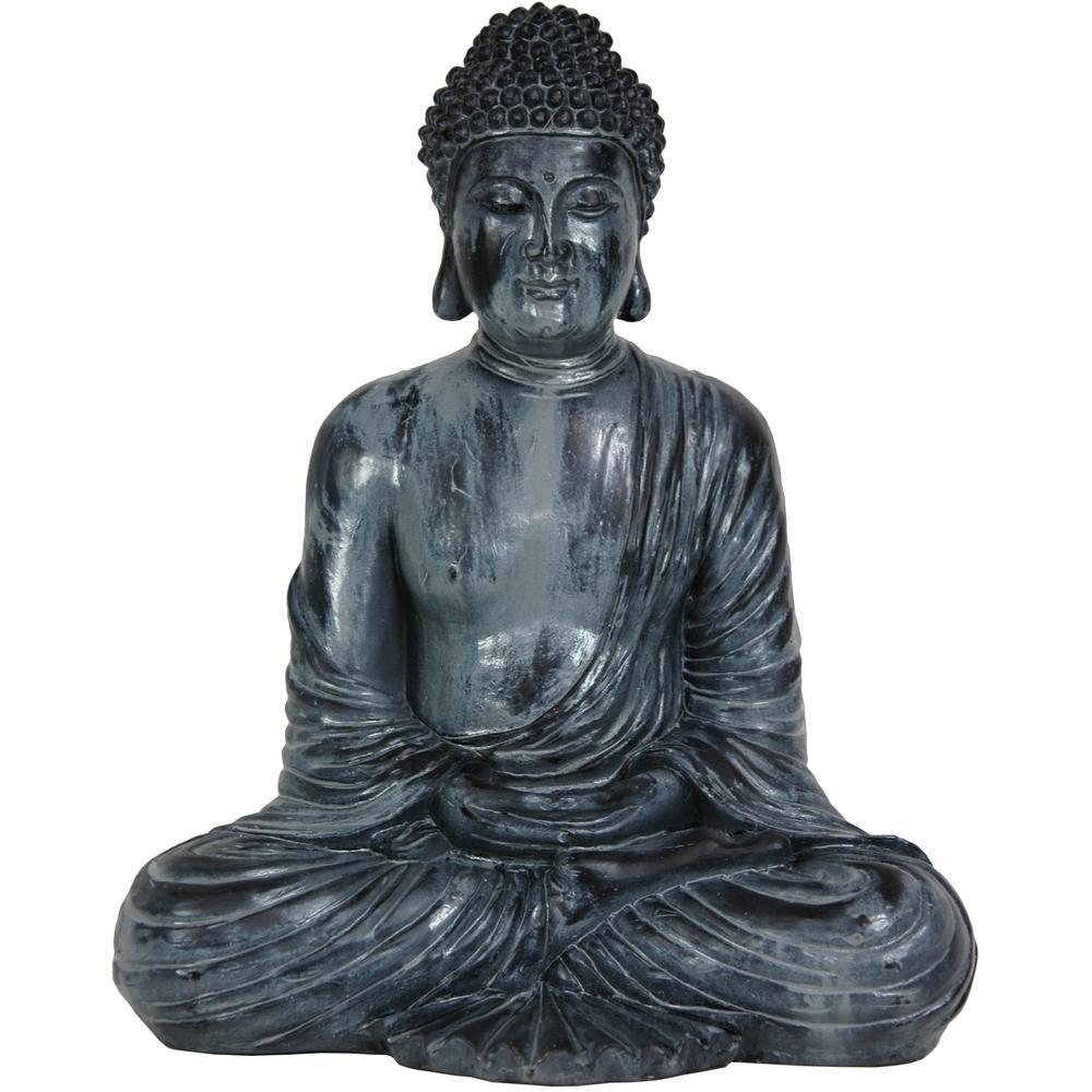 Oriental Furniture 12 in. Japanese Sitting Buddha Decorative Statue