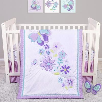 Butterfly Meadow 4-Piece Crib Bedding Set
