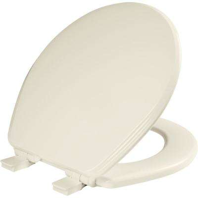 Ashland Round Closed Front Toilet Seat in Biscuit/Linen