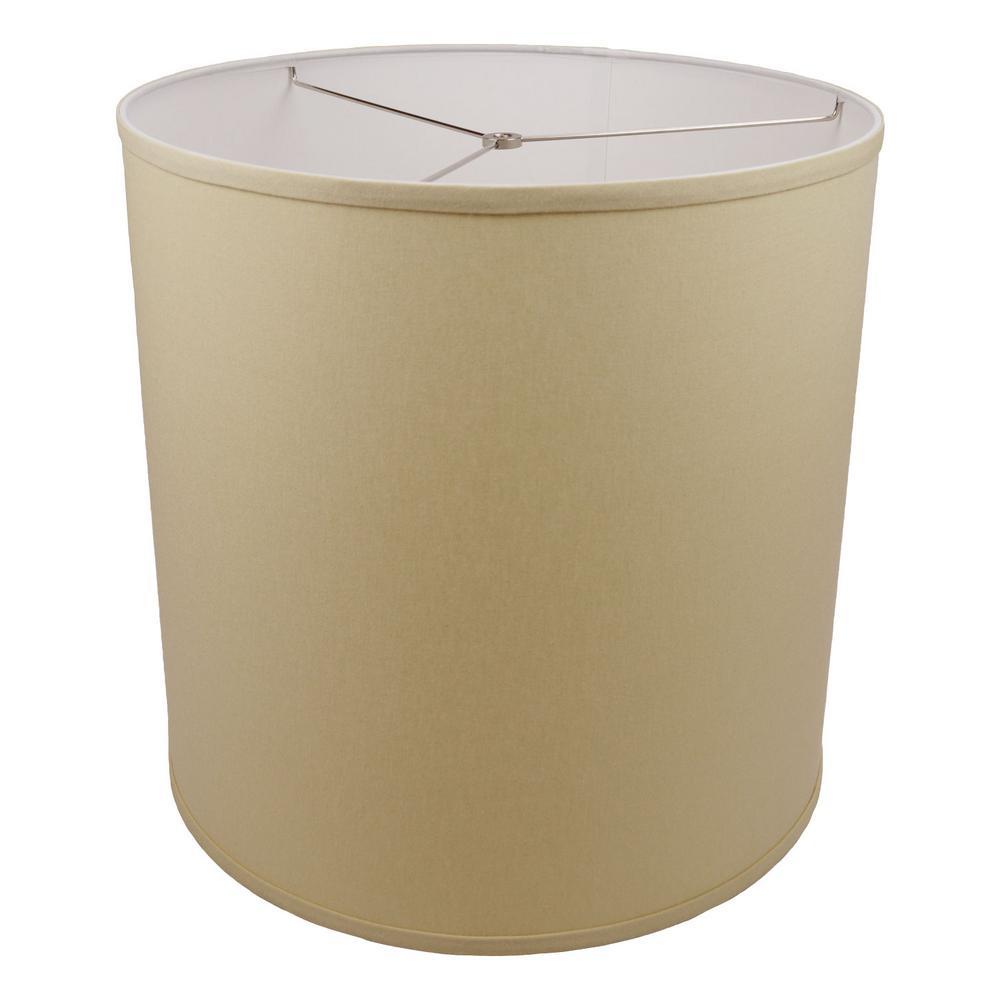 Fenchel Shades 18 in. Top Diameter x 18 in. Bottom Diameter x 18 in. Height Drum Lamp Shade - Linen Beige