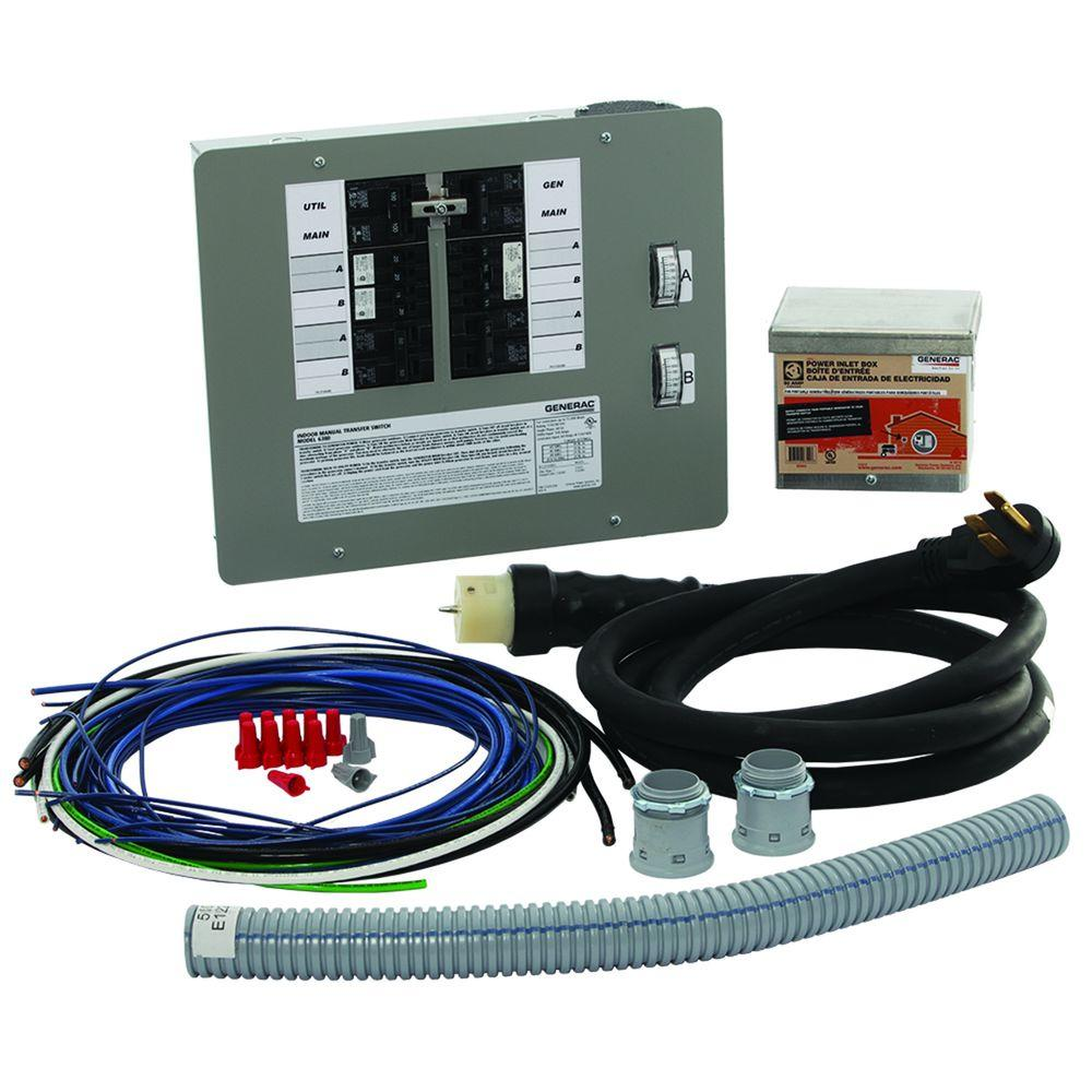 Generac 50 Amp Generator Transfer Switch Kit for 12-16 Circuits for Indoor Applications