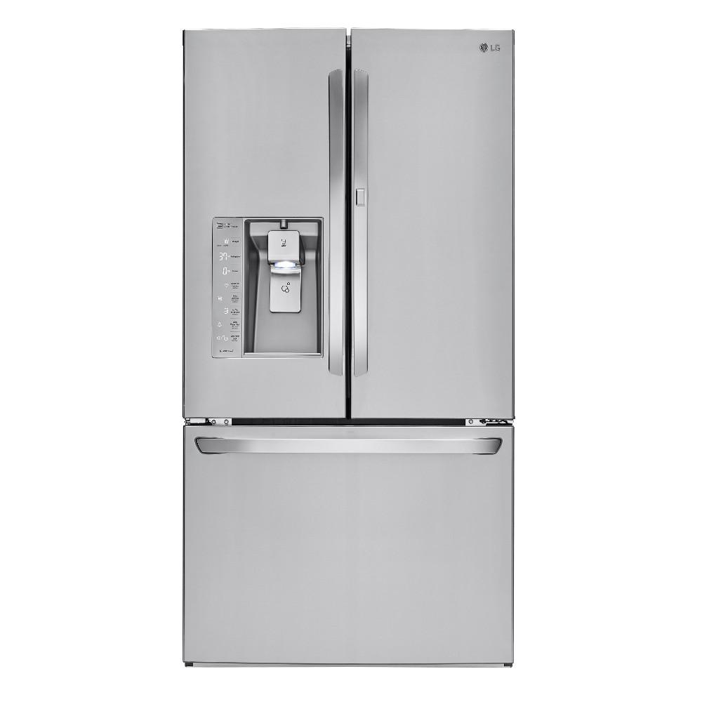 lg electronics 30 cu ft french door refrigerator with door in door and bluetooth speaker in. Black Bedroom Furniture Sets. Home Design Ideas
