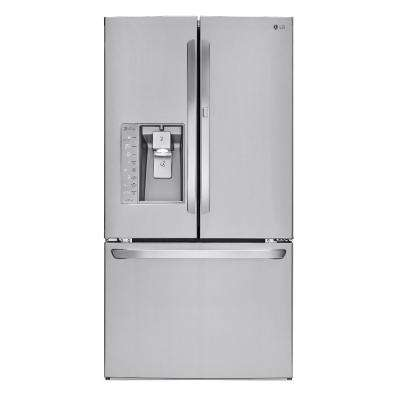 30 cu. ft. French Door Refrigerator with Door-in-Door and Bluetooth Speaker in Stainless Steel
