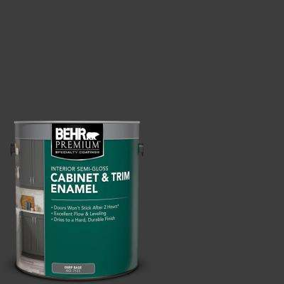 1 gal. Black Semi-Gloss Enamel Interior Cabinet and Trim Paint