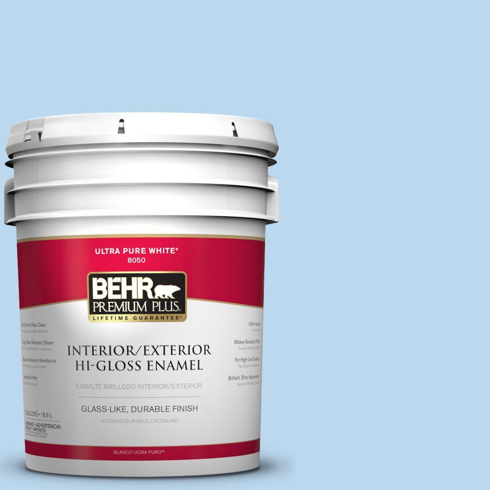 5-gal. #P520-1 First Rain Hi-Gloss Enamel Interior/Exterior Paint