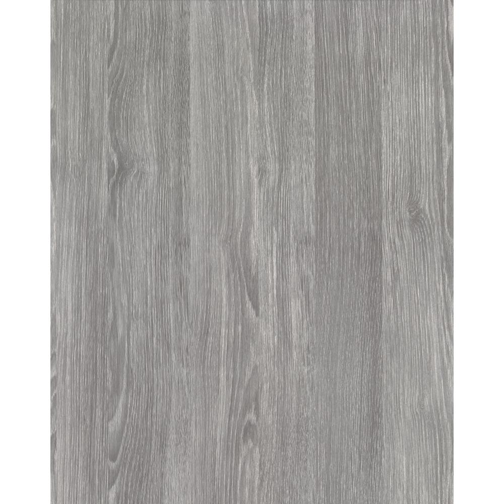 Oak Sheffield Pearl Grey 17 in. x 78 in. Home Decor Self Adhesive Film (2-Pack)