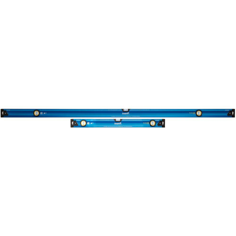 Empire 78 in./32 in. e2G True Blue Professional Magnetic Box Level Jamb Set