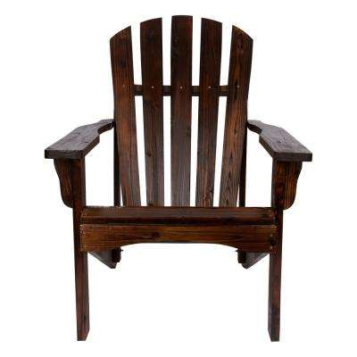 Rockport Cedar Wood Adirondack Chair - Burnt Brown