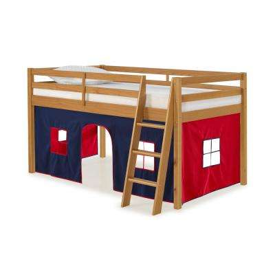 Roxy Chestnut Junior Loft with Blue and Red Bottom Tent