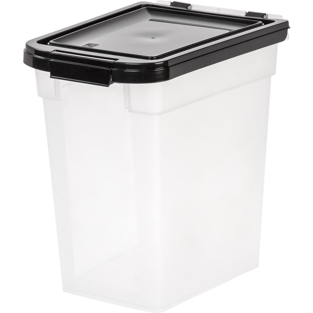 IRIS 12 Qt. Airtight Pet Food Storage Bin in Clear