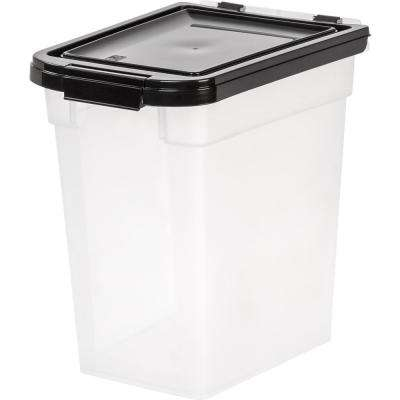 12 Qt. Airtight Pet Food Storage Bin in Clear