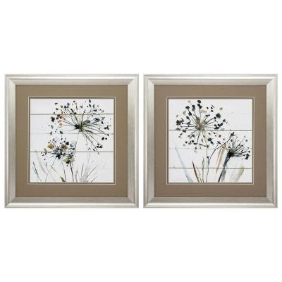 "19 in. x 19 in. ""Natures Lace PK/2"" Framed Wall Art"