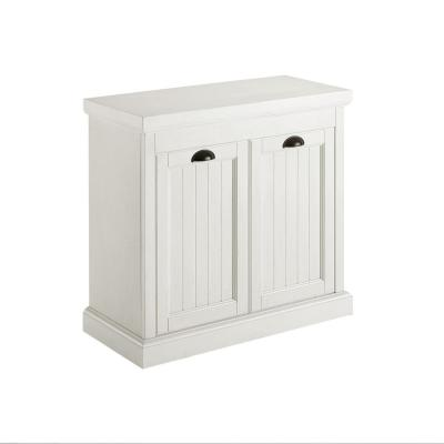 Crosley Furniture Seaside Distressed White 31 In W Lift Top Linen Hamper Cf7016 Wh The Home Depot