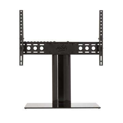 Universal Table Top TV Stand/Base Adjustable Tilt for Most TVs 46 in. to 65 in., Black/Black