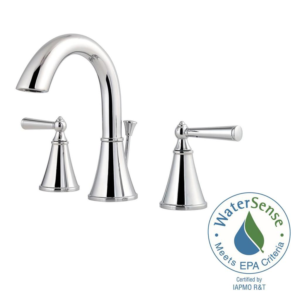 Widespread 2 Handle Bathroom Faucet In Polished Chrome