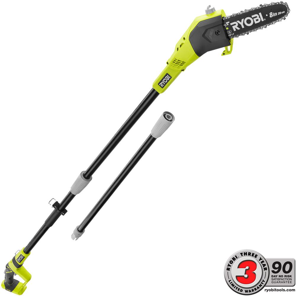 RYOBI ONE+ 8 in. 18-Volt Lithium-Ion Cordless Pole Saw - Battery and Charger Not Included