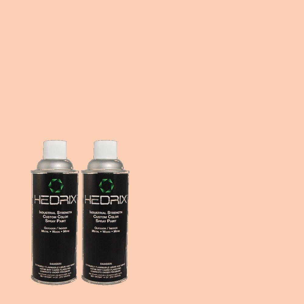 Hedrix 11 oz. Match of 1B19-2 Peach Melba Low Lustre Custom Spray Paint (2-Pack)