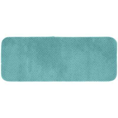 Cabernet Sea Foam 22 in. x 60 in. Washable Bathroom Accent Rug