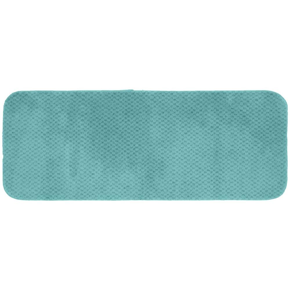 Cabernet Sea Foam 22 in. x 60 in. Washable Bathroom Accent