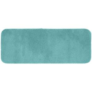 Garland Rug Cabernet Sea Foam 22 inch x 60 inch Washable Bathroom Accent Rug by Garland Rug