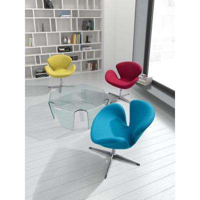 Pori Blue Polyfiber Arm Chair (Set of 2)